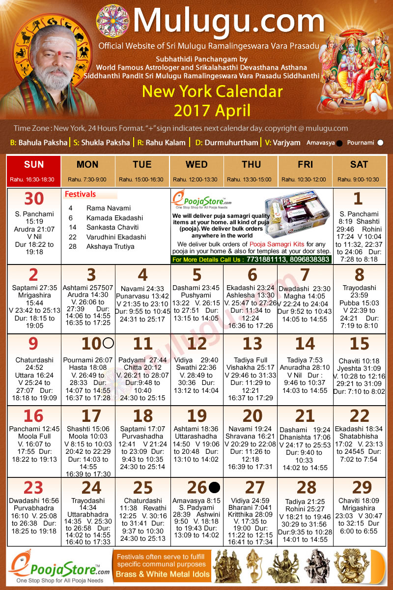 June Calendar New York City : New york telugu calendar april mulugu