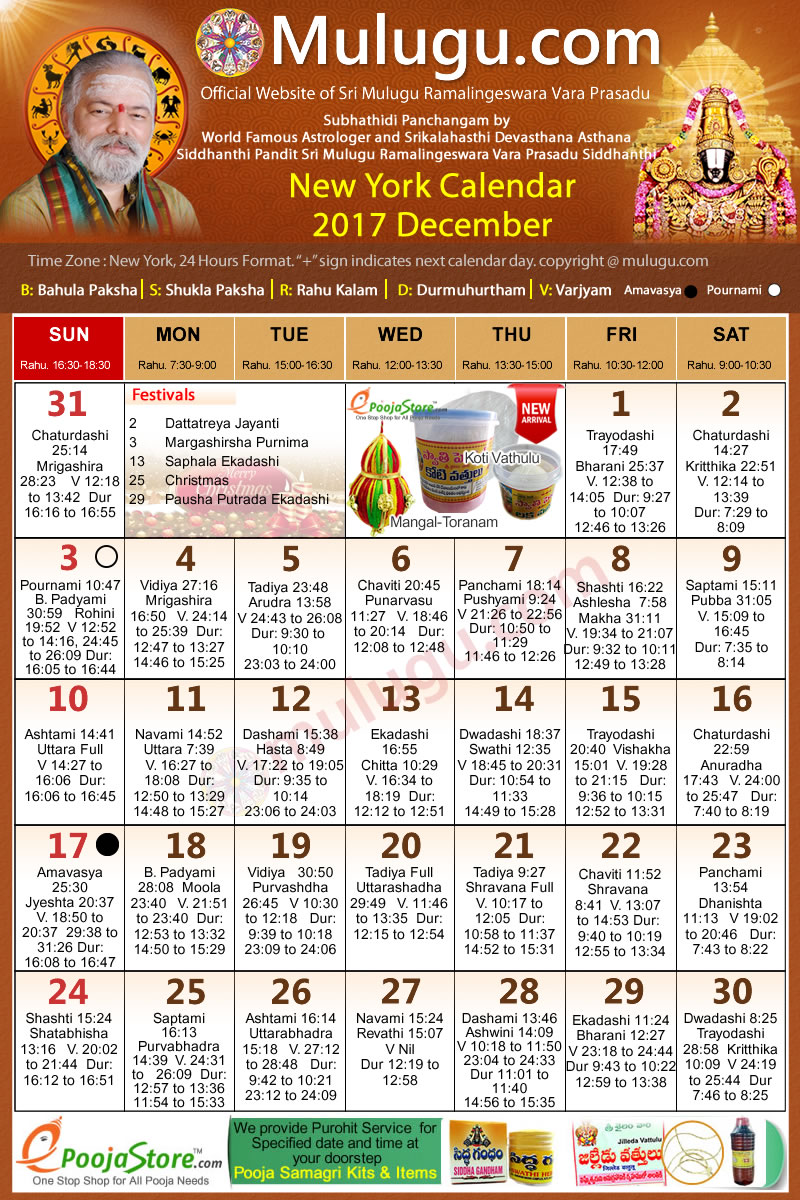 June Calendar New York City : New york telugu calendar december mulugu
