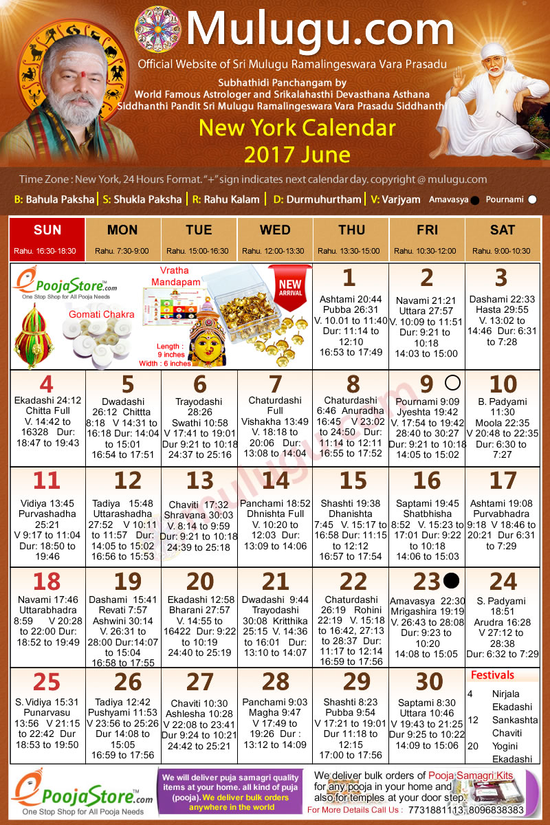 June Calendar New York City : New york telugu calendar june mulugu