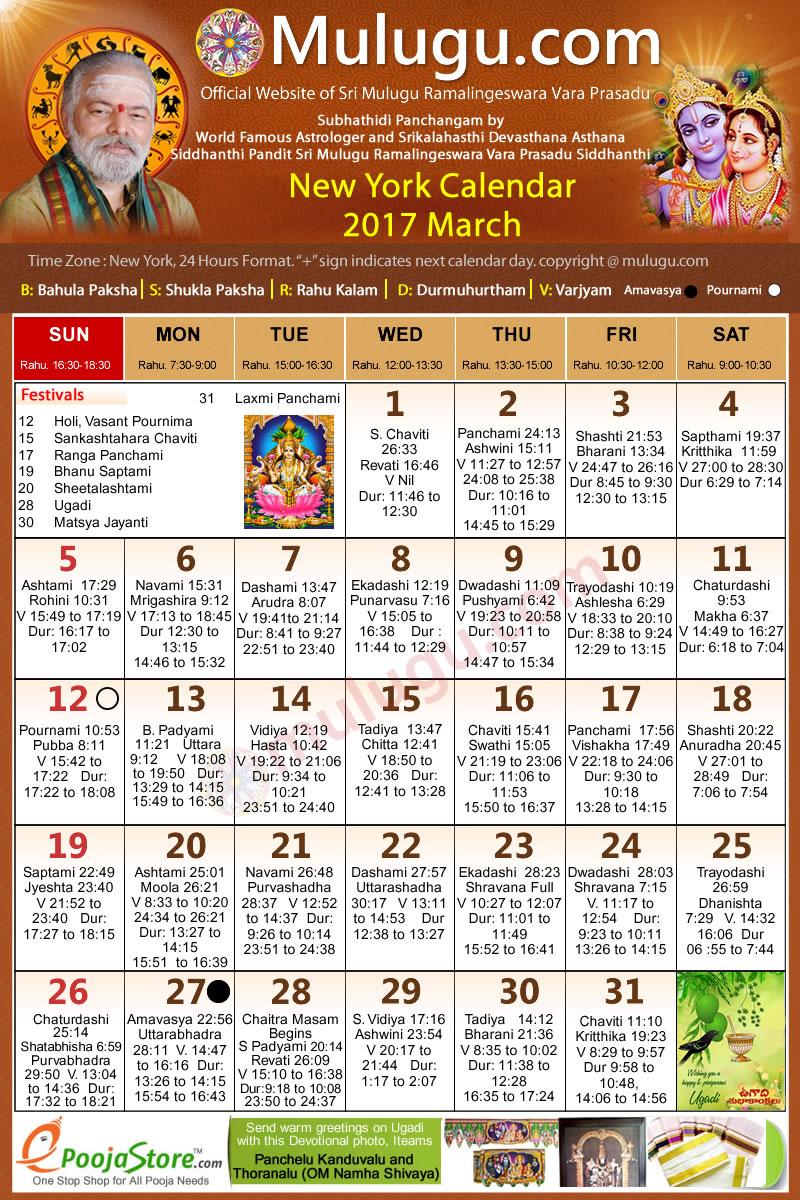 April Calendar New York City : New york telugu calendar march mulugu