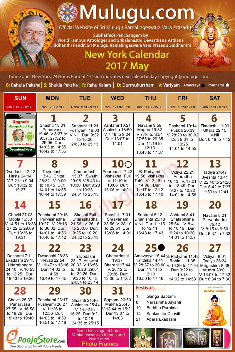 May Calendar New York City : New york telugu calendar may mulugu