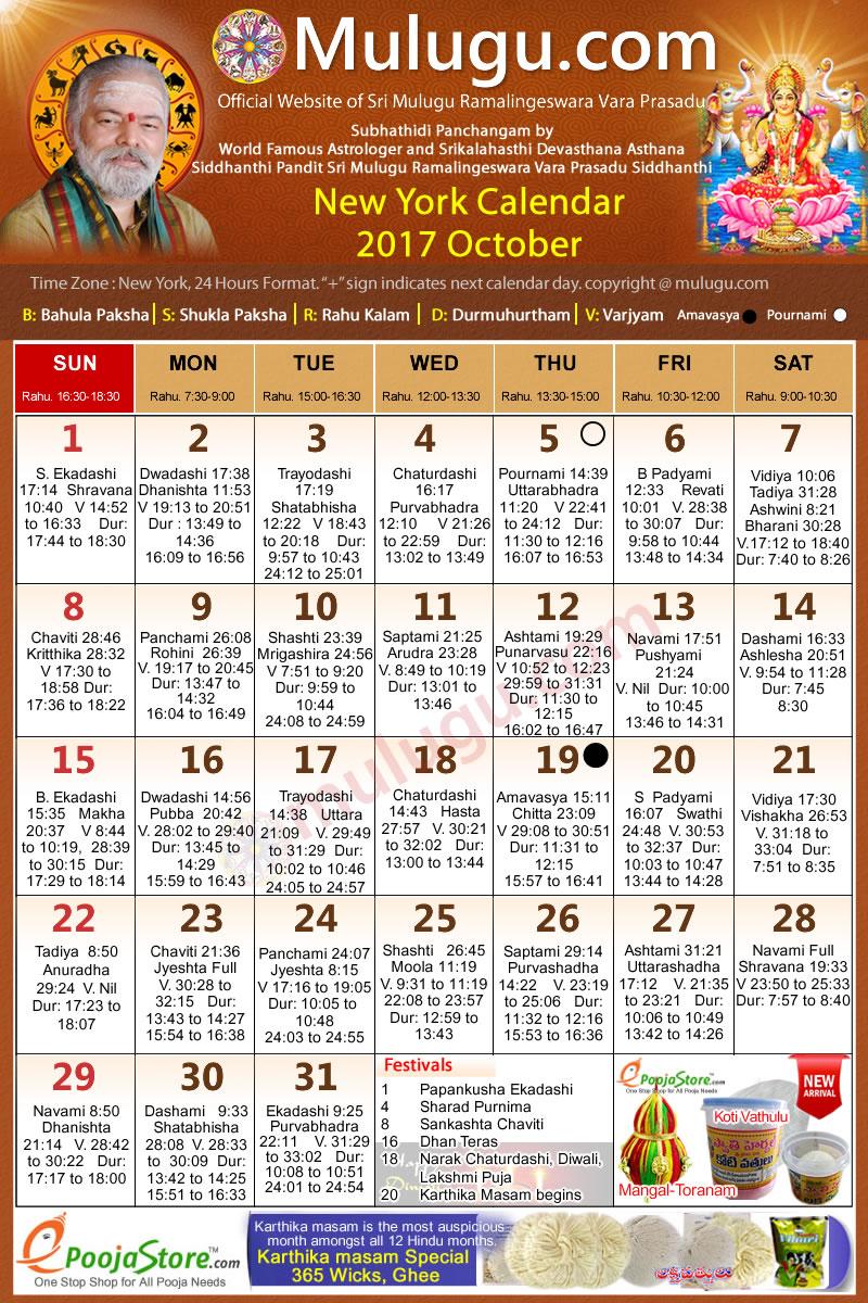 Calendar New York April : New york telugu calendar october mulugu