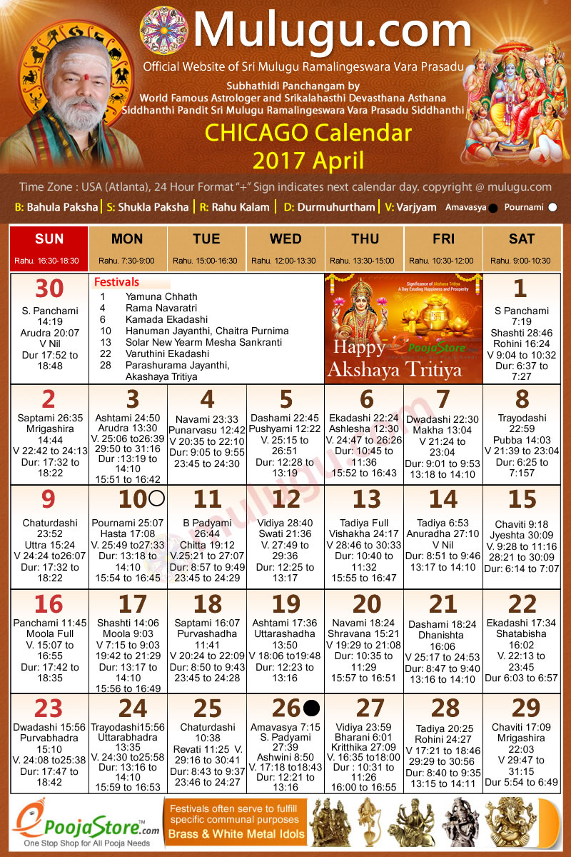 September 2017 Telugu Panchangam Calendar with …