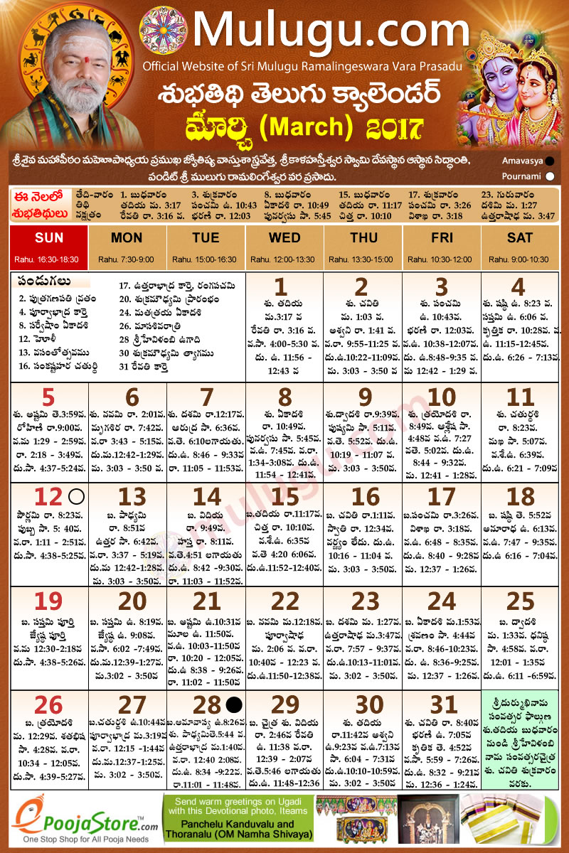 Telugu Calendar 2015, October