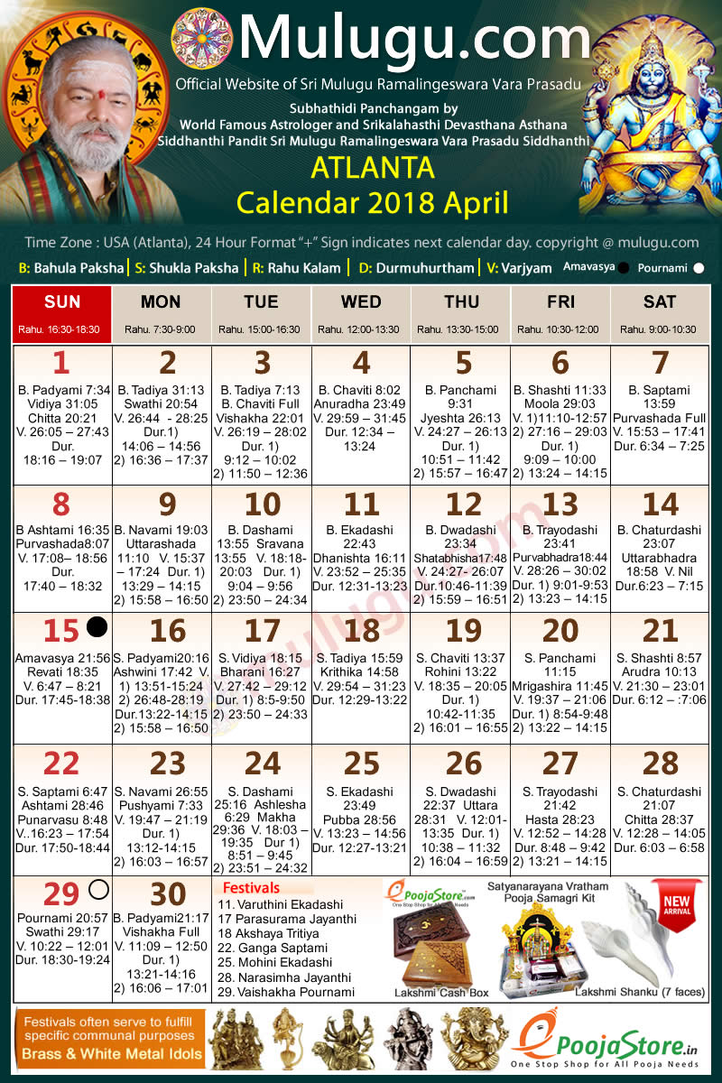 Telugu Calendar September 2019 Atlanta