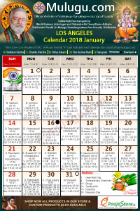 los angeles usa telugu calendar 2018 january with tithi nakshatram durmuhurtham