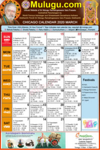 Chicago Telugu Calendar 2020 | USA, Chicago | Telugu