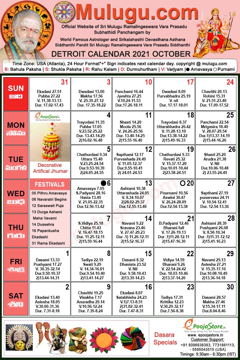 Telugu Calendar 2022 October.Detroit Telugu Calendar 2021 October Mulugu Calendars Telugu Calendar Telugu Calendar 2021 2022 Telugu Subhathidi Calendar 2021 Calendar 2021 Subhathidi Calendar 2021 Detroit Calendar 2021 Los Angeles 2021 Sydney Calendar 2021