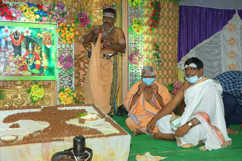 Maha Shivaratri Special Sahasra Lingarchana Sahitha Maha Pashupatha Homam March 11th 2021@ Mulugu Siddanthi Ashramam in Srisailam (18)