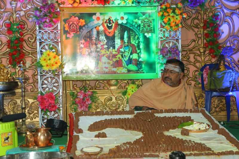 Maha Shivaratri Special Sahasra Lingarchana Sahitha Maha Pashupatha Homam March 11th 2021@ Mulugu Siddanthi Ashramam in Srisailam (20)
