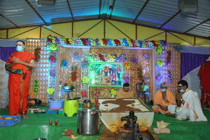 Maha Shivaratri Special Sahasra Lingarchana Sahitha Maha Pashupatha Homam March 11th 2021@ Mulugu Siddanthi Ashramam in Srisailam (21)