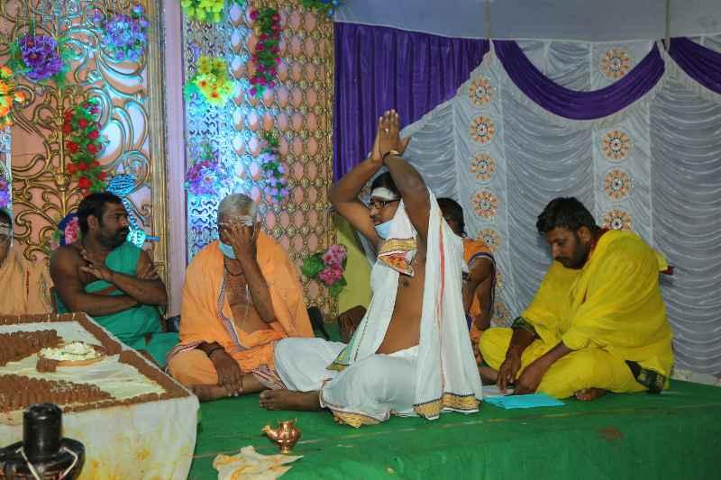Maha Shivaratri Special Sahasra Lingarchana Sahitha Maha Pashupatha Homam March 11th 2021@ Mulugu Siddanthi Ashramam in Srisailam (27)