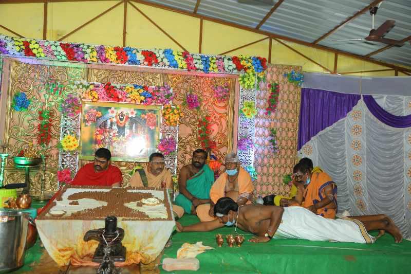 Maha Shivaratri Special Sahasra Lingarchana Sahitha Maha Pashupatha Homam March 11th 2021@ Mulugu Siddanthi Ashramam in Srisailam (49)