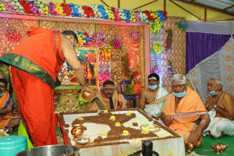 Maha Shivaratri Special Sahasra Lingarchana Sahitha Maha Pashupatha Homam March 11th 2021@ Mulugu Siddanthi Ashramam in Srisailam (51)