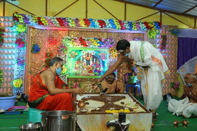 Maha Shivaratri Special Sahasra Lingarchana Sahitha Maha Pashupatha Homam March 11th 2021@ Mulugu Siddanthi Ashramam in Srisailam (56)