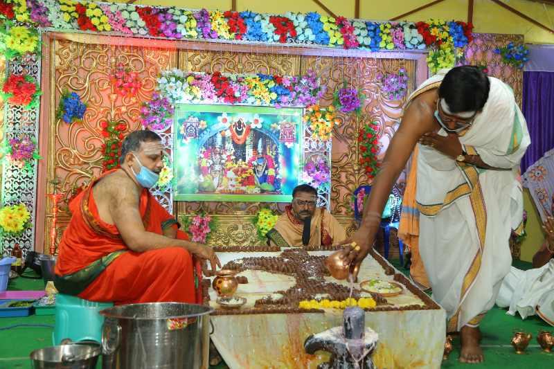 Maha Shivaratri Special Sahasra Lingarchana Sahitha Maha Pashupatha Homam March 11th 2021@ Mulugu Siddanthi Ashramam in Srisailam (58)