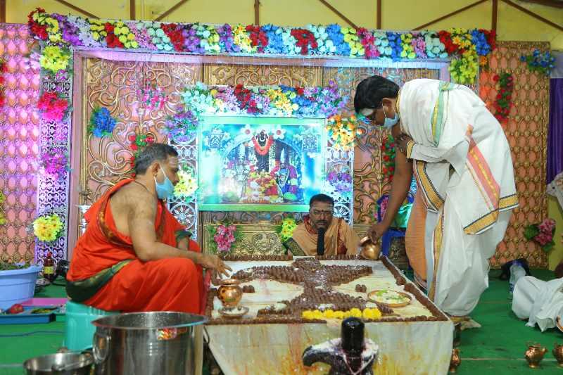 Maha Shivaratri Special Sahasra Lingarchana Sahitha Maha Pashupatha Homam March 11th 2021@ Mulugu Siddanthi Ashramam in Srisailam (59)