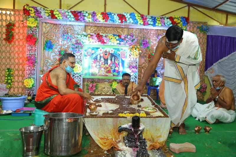 Maha Shivaratri Special Sahasra Lingarchana Sahitha Maha Pashupatha Homam March 11th 2021@ Mulugu Siddanthi Ashramam in Srisailam (60)