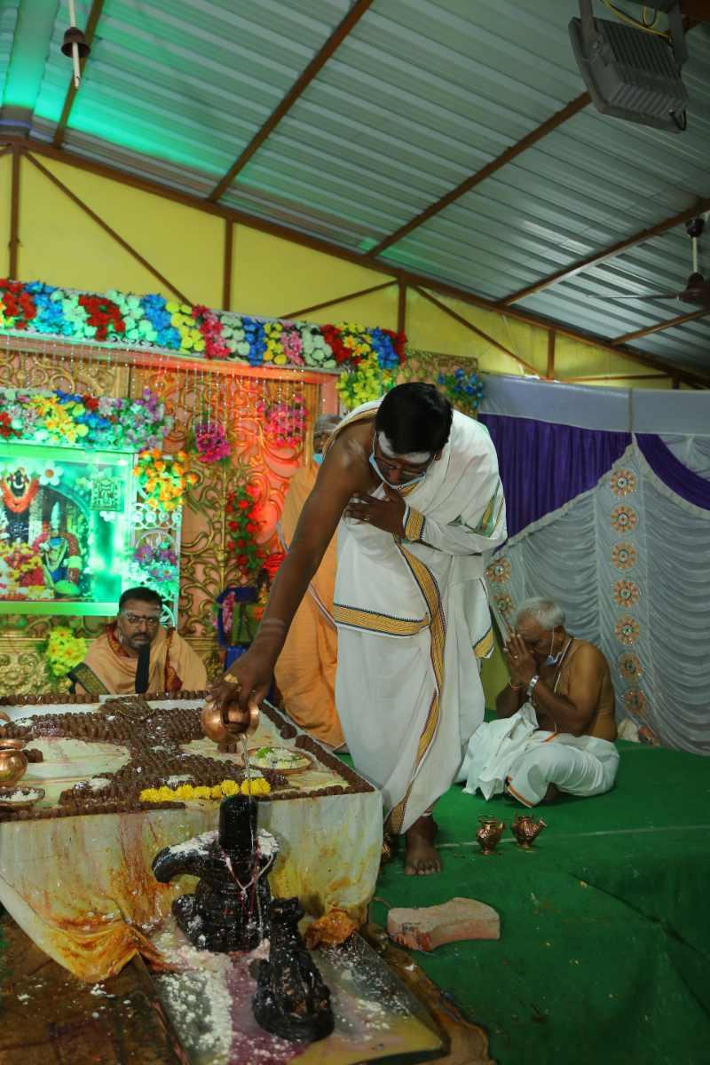Maha Shivaratri Special Sahasra Lingarchana Sahitha Maha Pashupatha Homam March 11th 2021@ Mulugu Siddanthi Ashramam in Srisailam (61)
