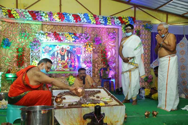 Maha Shivaratri Special Sahasra Lingarchana Sahitha Maha Pashupatha Homam March 11th 2021@ Mulugu Siddanthi Ashramam in Srisailam (66)