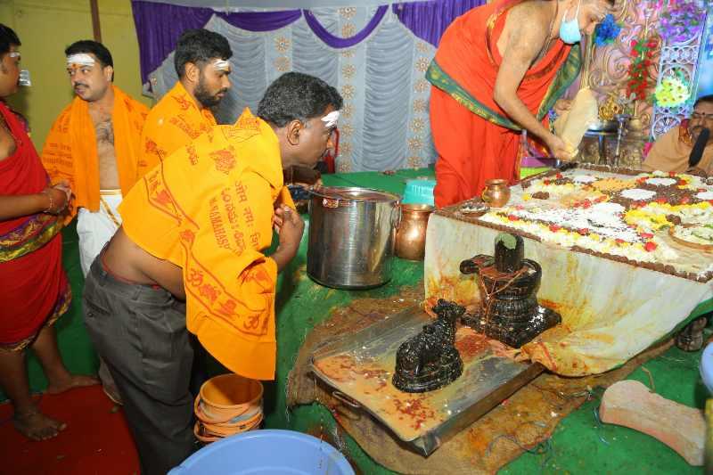 Maha Shivaratri Special Sahasra Lingarchana Sahitha Maha Pashupatha Homam March 11th 2021@ Mulugu Siddanthi Ashramam in Srisailam (73)