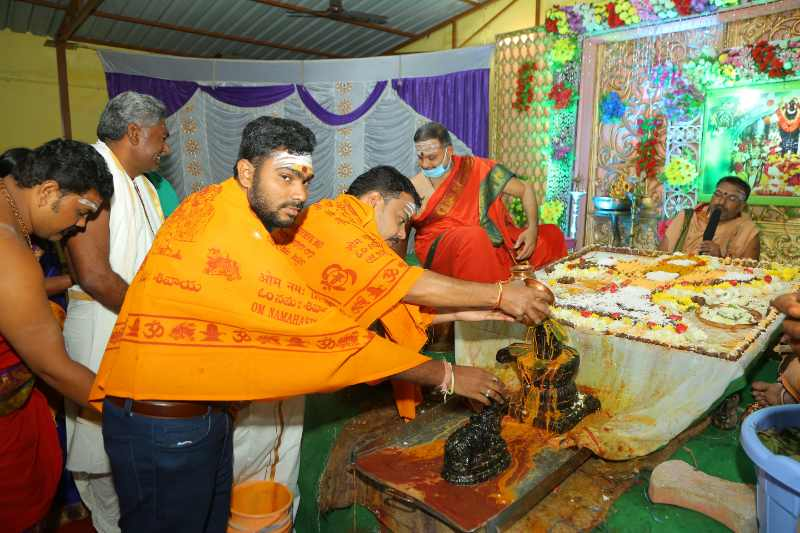 Maha Shivaratri Special Sahasra Lingarchana Sahitha Maha Pashupatha Homam March 11th 2021@ Mulugu Siddanthi Ashramam in Srisailam (76)