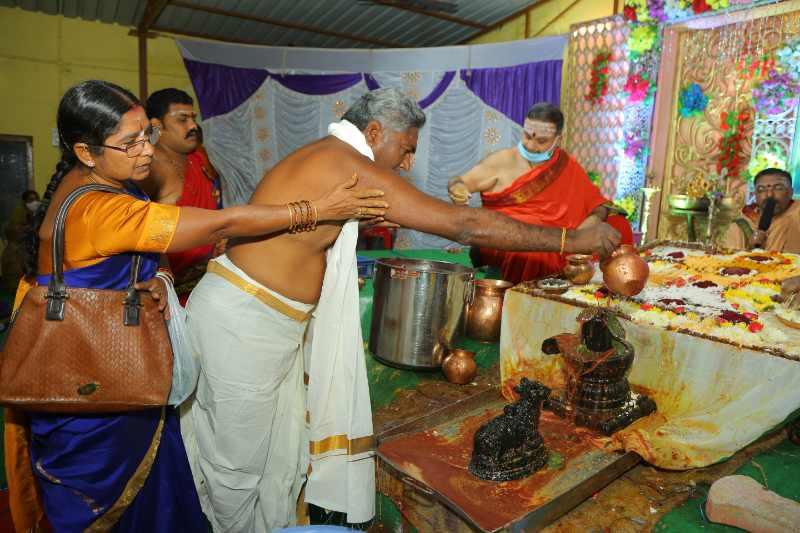 Maha Shivaratri Special Sahasra Lingarchana Sahitha Maha Pashupatha Homam March 11th 2021@ Mulugu Siddanthi Ashramam in Srisailam (78)