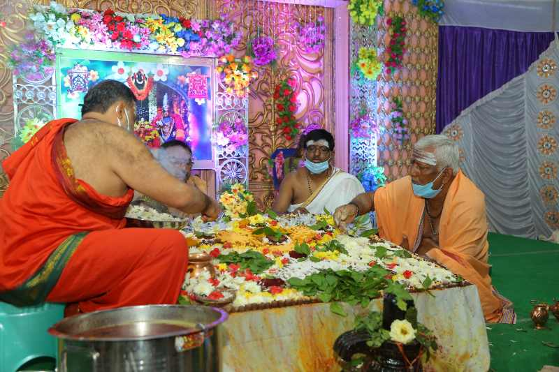Maha Shivaratri Special Sahasra Lingarchana Sahitha Maha Pashupatha Homam March 11th 2021@ Mulugu Siddanthi Ashramam in Srisailam (80)