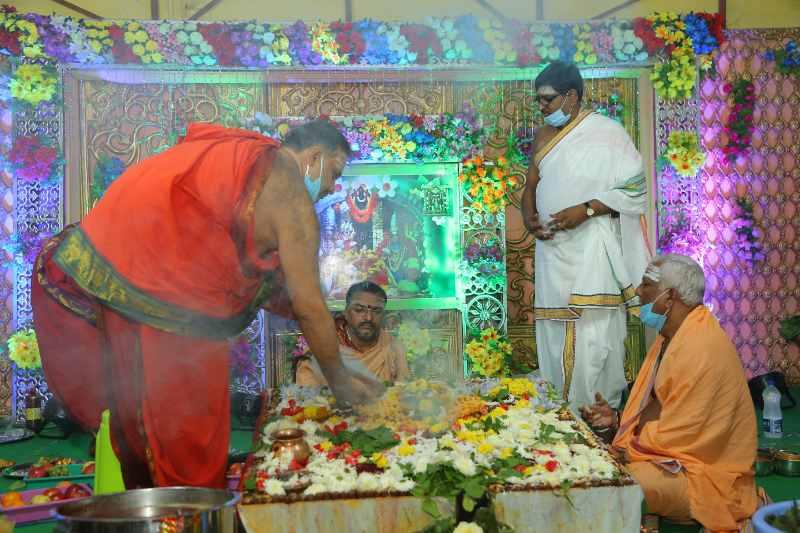 Maha Shivaratri Special Sahasra Lingarchana Sahitha Maha Pashupatha Homam March 11th 2021@ Mulugu Siddanthi Ashramam in Srisailam (82)