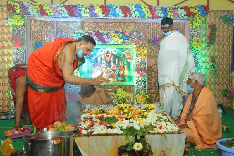 Maha Shivaratri Special Sahasra Lingarchana Sahitha Maha Pashupatha Homam March 11th 2021@ Mulugu Siddanthi Ashramam in Srisailam (83)