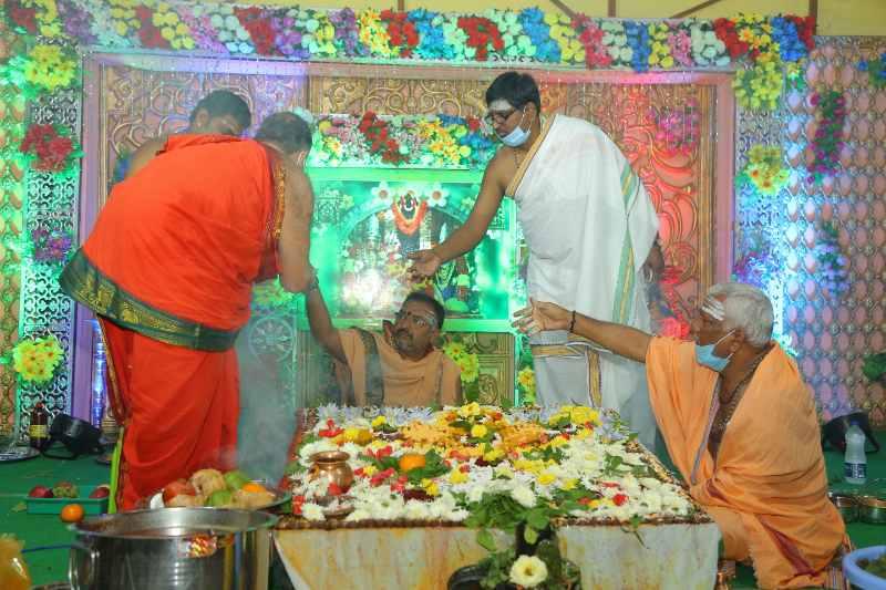 Maha Shivaratri Special Sahasra Lingarchana Sahitha Maha Pashupatha Homam March 11th 2021@ Mulugu Siddanthi Ashramam in Srisailam (84)