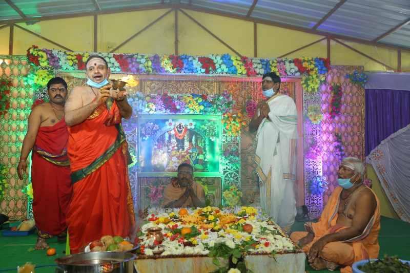 Maha Shivaratri Special Sahasra Lingarchana Sahitha Maha Pashupatha Homam March 11th 2021@ Mulugu Siddanthi Ashramam in Srisailam (88)