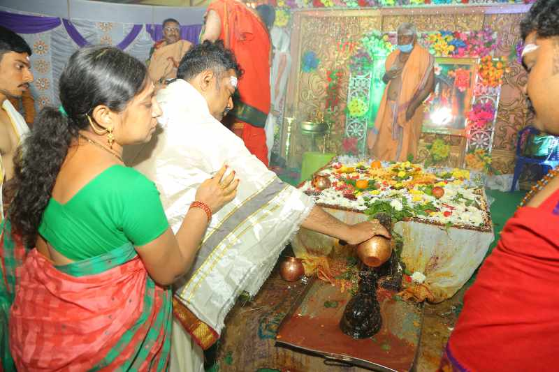 Maha Shivaratri Special Sahasra Lingarchana Sahitha Maha Pashupatha Homam March 11th 2021@ Mulugu Siddanthi Ashramam in Srisailam (91)