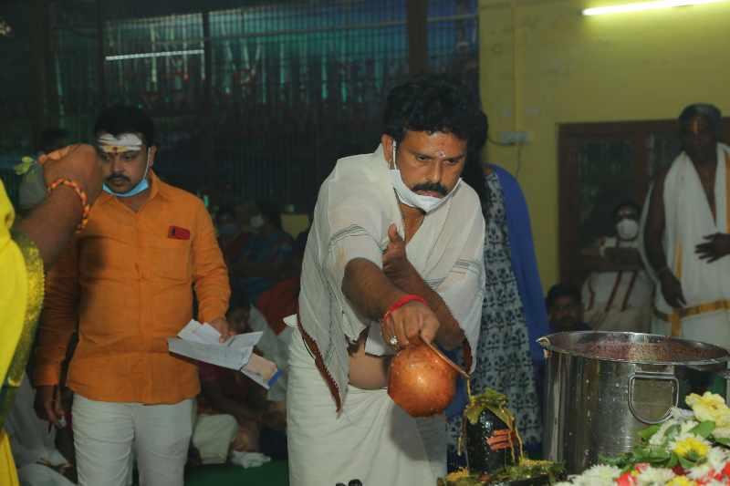 Maha Shivaratri Special Sahasra Lingarchana Sahitha Maha Pashupatha Homam March 11th 2021@ Mulugu Siddanthi Ashramam in Srisailam (96)