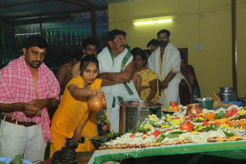 Maha Shivaratri Special Sahasra Lingarchana Sahitha Maha Pashupatha Homam March 11th 2021@ Mulugu Siddanthi Ashramam in Srisailam (99)