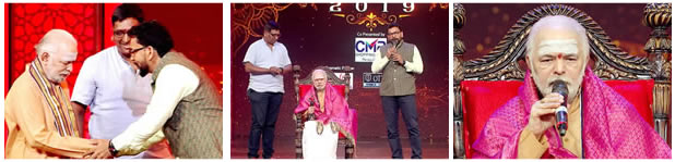 Star Maa Parivaar Awards 2019 - Mulugu siddanthi Garu Felicitation by Alok Jain CEO of Star Maa