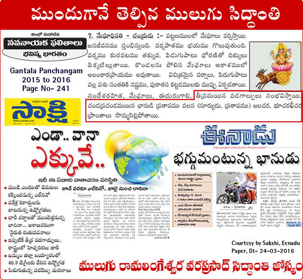 Mulugu Prediction Hot weather in Telangana and Andhra Pradesh continues unabated media sources Eenadu Sakshi epaper