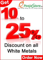 Buy Online Pooja Samagri 25 percent discount on All White Metals on epoojastore.com