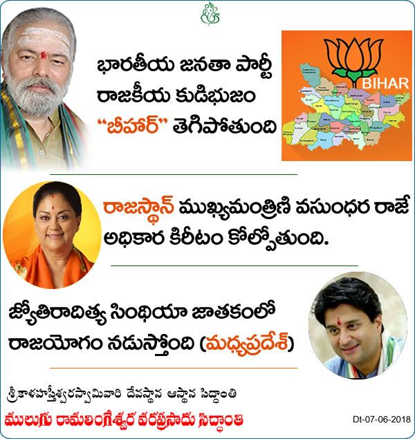 bharatiya janata party prabhaavam taggutundi, sindhiyaki rajayogam